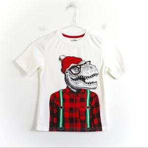 🌺2/15$ Holiday time Christmas Dinosaur hipster